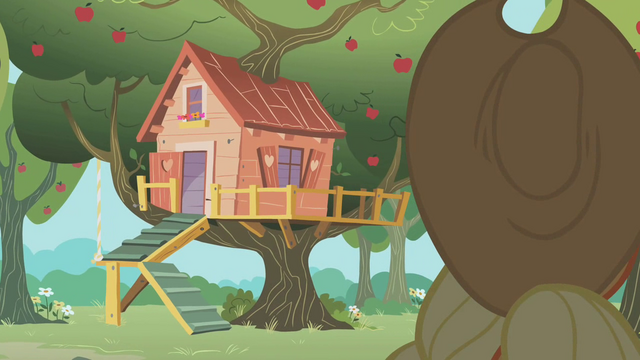 File:Applejack approaching the clubhouse S01E18.png