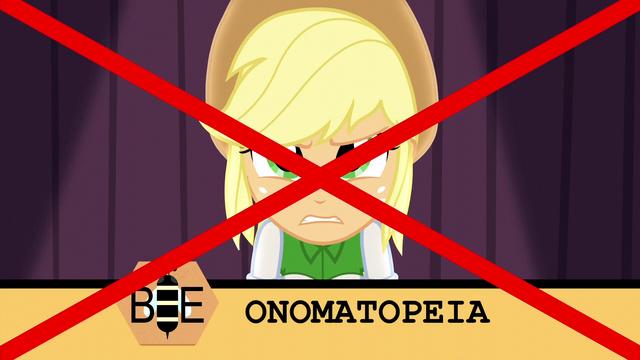 """File:Applejack misspells """"onomatopoeia"""" EG3.png"""