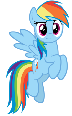 File:FANMADE Rainbow Dash confident vector.png