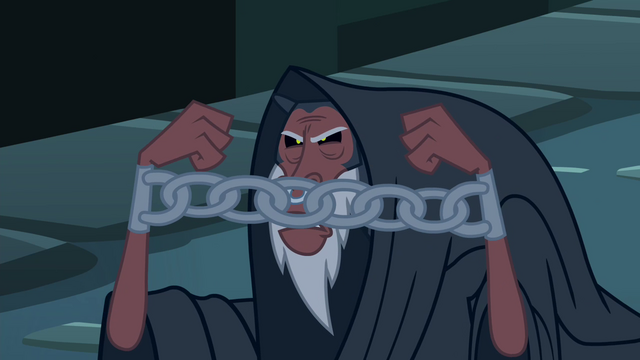 File:Tirek angry at Discord with chains on his hands S4E25.png