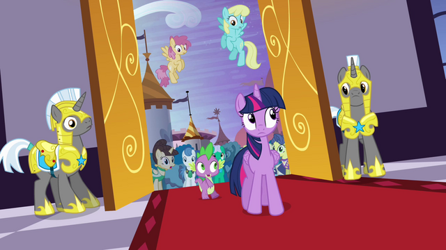 File:Twilight and Spike enter the castle S4E01.png