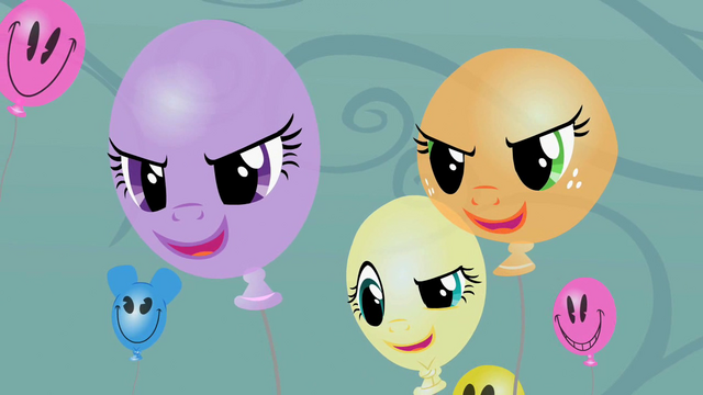 File:Balloon Twilight, Fluttershy and Applejack laughing S2E01.png