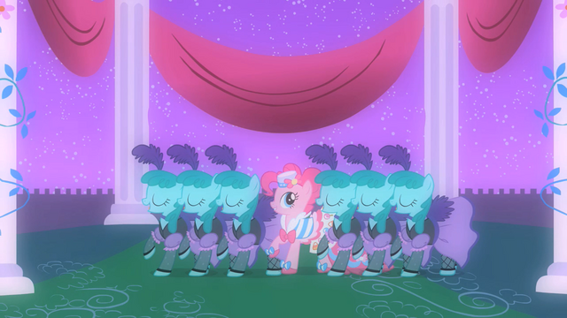 File:Pinkie Pie dancing with Sprinkle Medleys in her fantasy S1E26.png