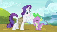 Rarity patting Spike on the head S4E23