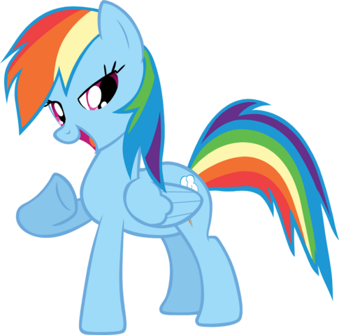 File:FANMADE proud Rainbow Dash vector.png