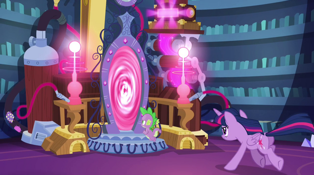 File:Twilight and Spike run through modified Crystal Mirror EG2.png