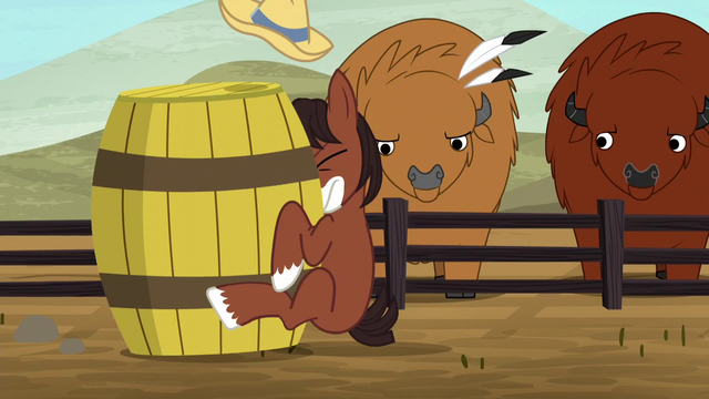 File:Young Trouble Shoes slams into a barrel S5E6.png