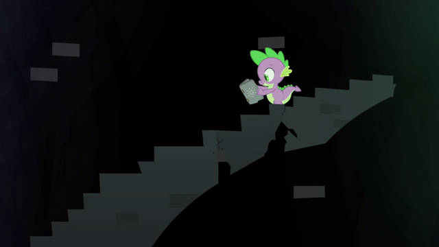 File:Spike climbing down the crumbling stairs S4E23.png