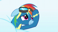 Rainbow Dash looking embarrassed S6E7