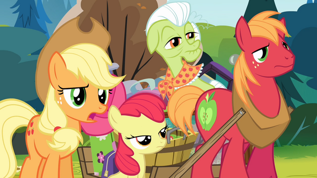 File:Applejack 'Maybe you could read...' S4E09.png