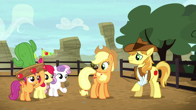 File:Cutie Mark Crusaders return to the rodeo S5E6.png