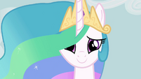 Princess Celestia smiles at Fluttershy S03E10