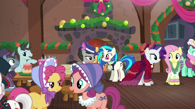 File:A view of the party; Merry and Flutterholly talking to each other S06E08.png