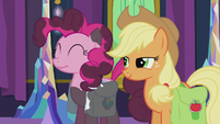 Pinkie Pie smiling and covered in soot S5E20