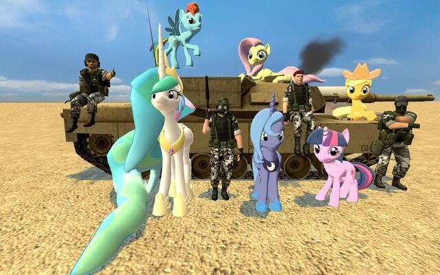 File:FANMADE Gmod HECU and ponies.jpg