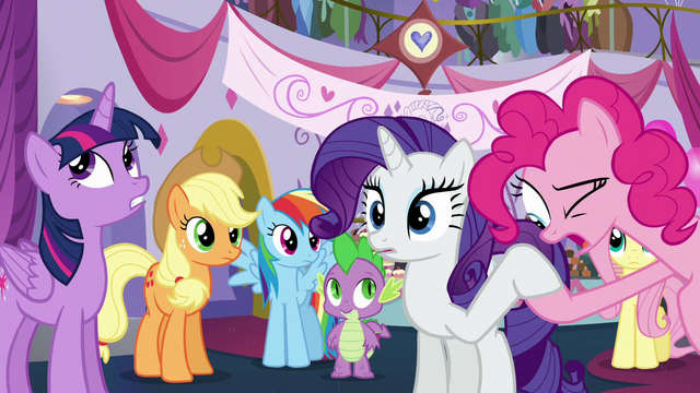 File:Pinkie looking at Rarity's hoof S5E14.png