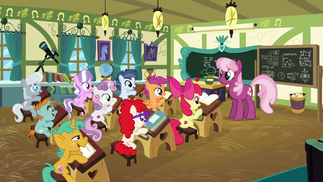 File:Foals say good morning to Miss Cheerilee S6E14.png