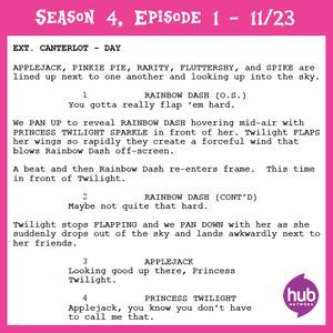 Princess Twilight Sparkle - Part 1 script excerpt