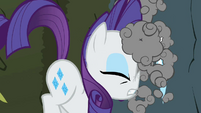 Rarity running to a rock wall S2E01