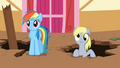 Derpy about to cheer for Rainbow Dash S2E14.png