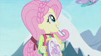 Fluttershy looking at butterflies EG2