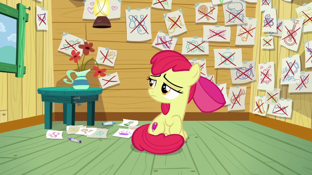 File:Apple Bloom looking at the drawings S6E4.png