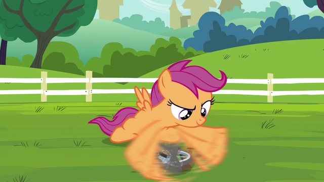File:Scootaloo fixing her unicycle S4E15.png