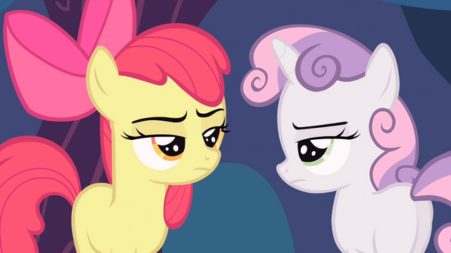File:Apple Bloom and Sweetie Belle annoyed S4E05.png