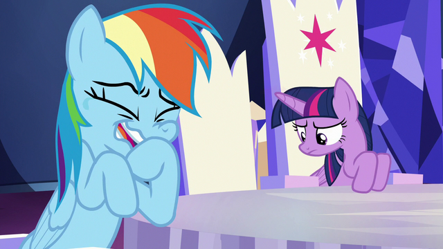 File:Rainbow Dash cracking up at Twilight S6E15.png