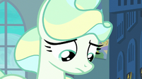 Vapor Trail with her eyes cast downward S6E24