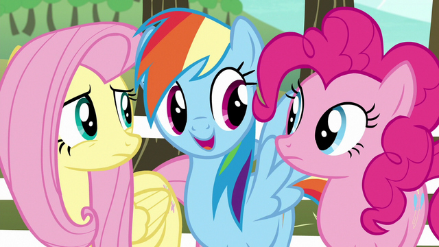 "File:Rainbow Dash ""all we need is a unicorn"" S6E18.png"