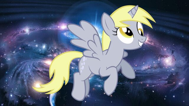 File:FANMADE Derpy Alicorn cosmic.jpg