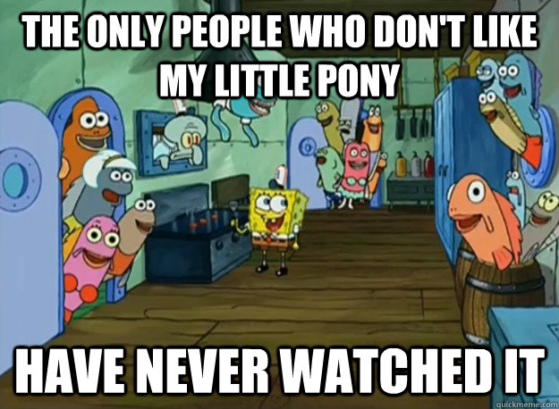 File:FANMADE My Little Pony x SpongeBob meme.jpg