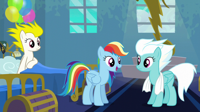 "File:Rainbow Dash ""go ahead and call me"" S6E7.png"