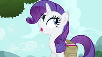 "Rarity scoffing ""what does a bird know"" S4E23"