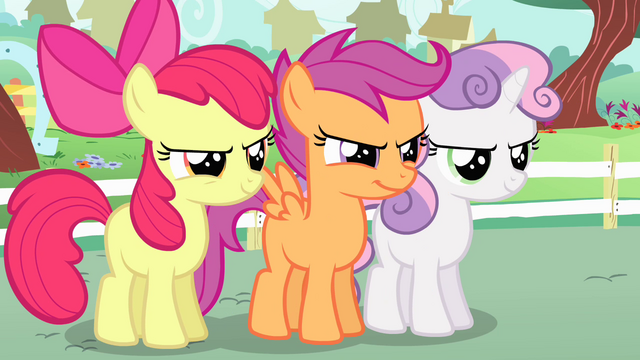 File:Cutie Mark Crusaders feeling confident S4E05.png
