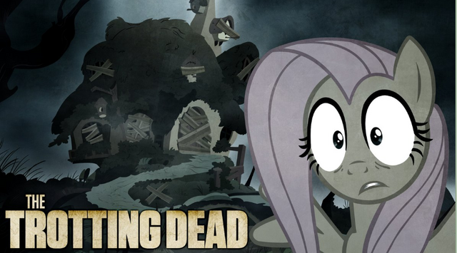 File:FANMADE Fluttershy The Trotting Dead.png