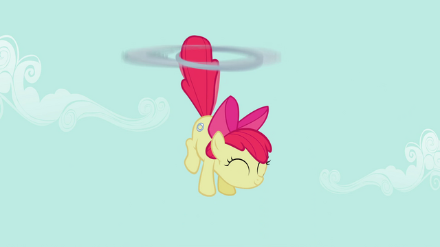 File:Apple Bloom being lifted upwards S2E06.png