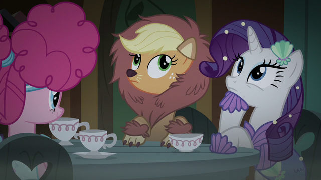 File:Applejack and Rarity hear Fluttershy S5E21.png
