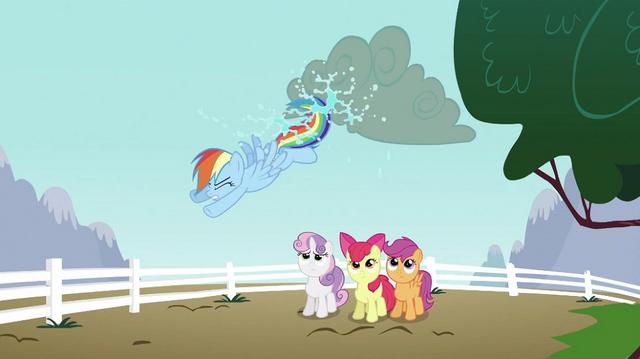 File:Rainbow Dash kicking cloud S2E23.png