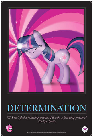 "File:Twilight Sparkle ""Determination"" poster from ComicCon 2012.jpg"