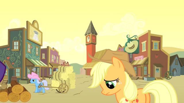 File:Applejack not liking the look S01E21.png