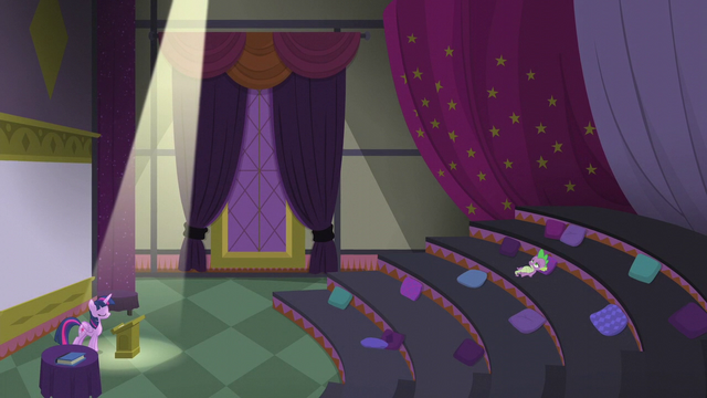 File:Twilight speaks while Spike lies tired S5E25.png