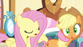 AJ getting pulled by Pinkie S4E18.png
