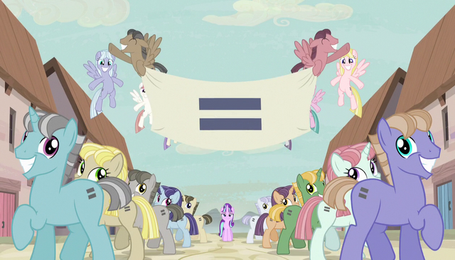File:Creepy smiling ponies with equals sign banner S5E1.png