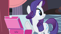 Rarity finish Twi dress S2E9