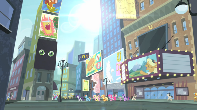 File:Main cast walking on the streets of Manehattan S4E08.png