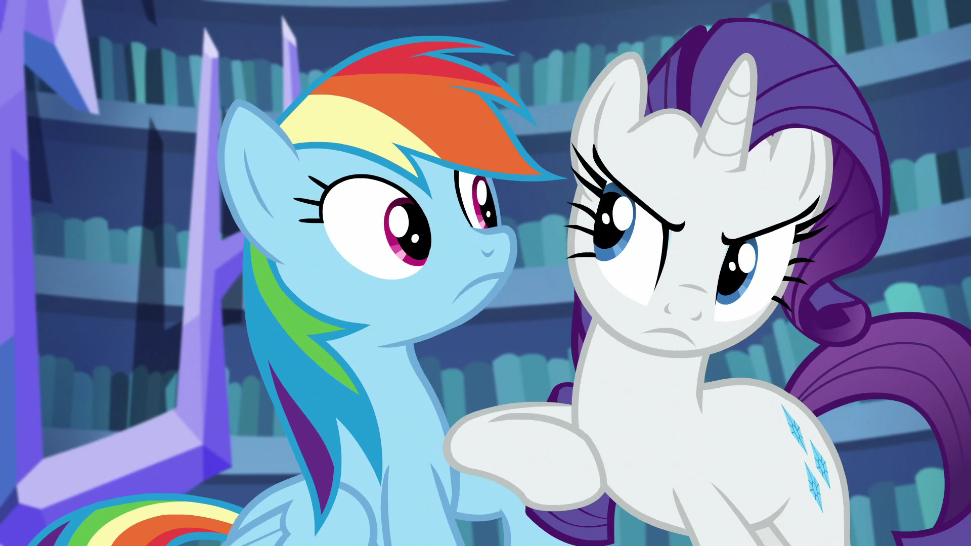 Image - Rarity nudging Rainbow Dash S5E21.png | My Little ...