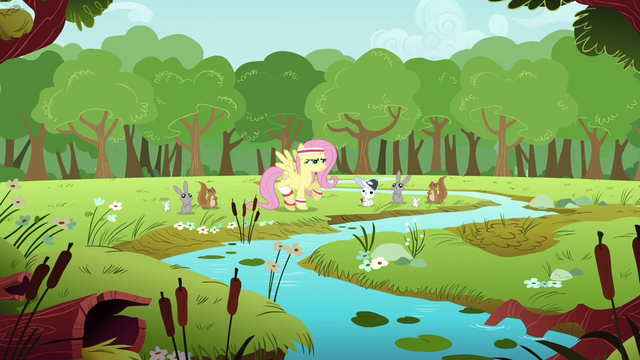 File:Fluttershy about to train S2E22.png