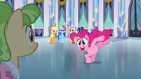 Pinkie Pie creating a distraction S03E12